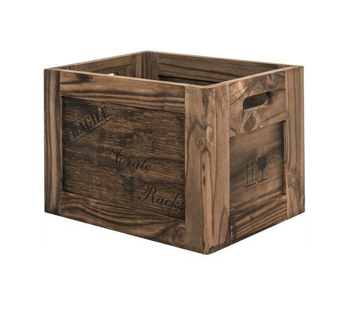 Medium Solid Wood Crate