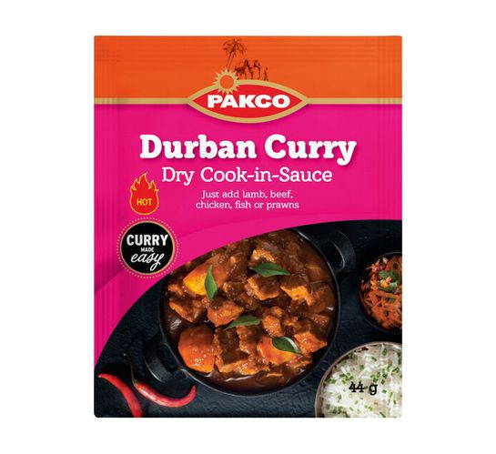 Pakco Dry Cook In Sauce Durban Curry (10 x 44g)