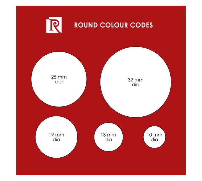 Redfern Self-Adhesive Colour Codes - C25 Flu Red