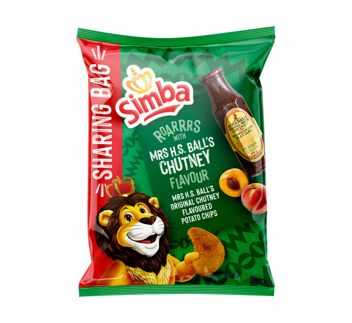 Simba Potato Chips Mrs Balls Chutney (1 X 220G)