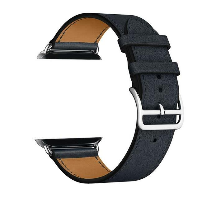 Zonabel 42mm Strap for Apple Watch - Black Leather