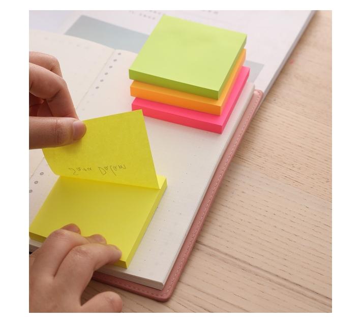 Deli Stationery Sticky Notes 76×76Mm 3``×3`` 100 Sheets Asst.