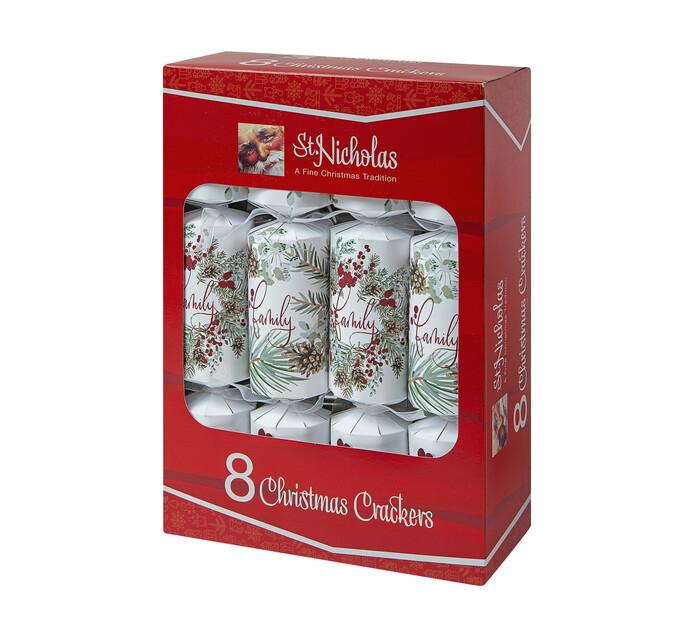 St Nicholas 8pk Print Christmas Crackers