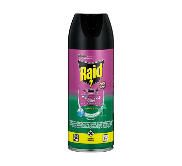 Raid Insect Spray Low Odour Eucalyptus (24 x 300ml)