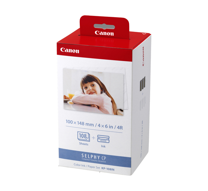 CANON KP-108 Selphy Ink and Paper Bundle