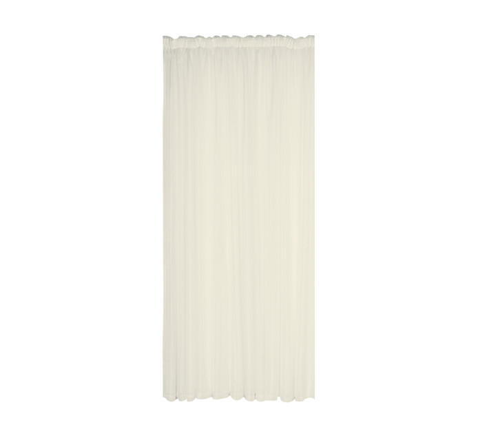 Design Collection 250 x 218 cm Plain Voile Curtains Cream