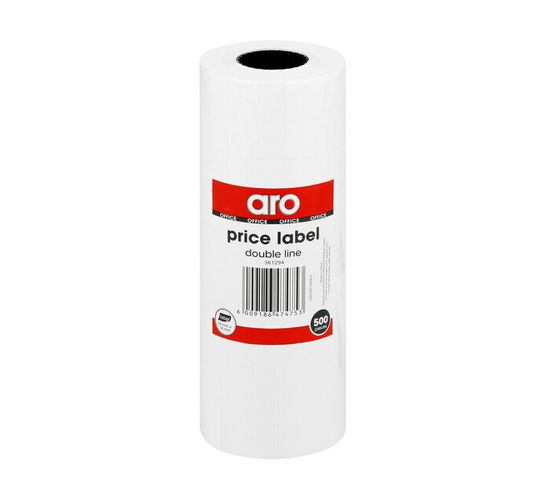 ARO Double Line Price Label Roll 500 Pieces