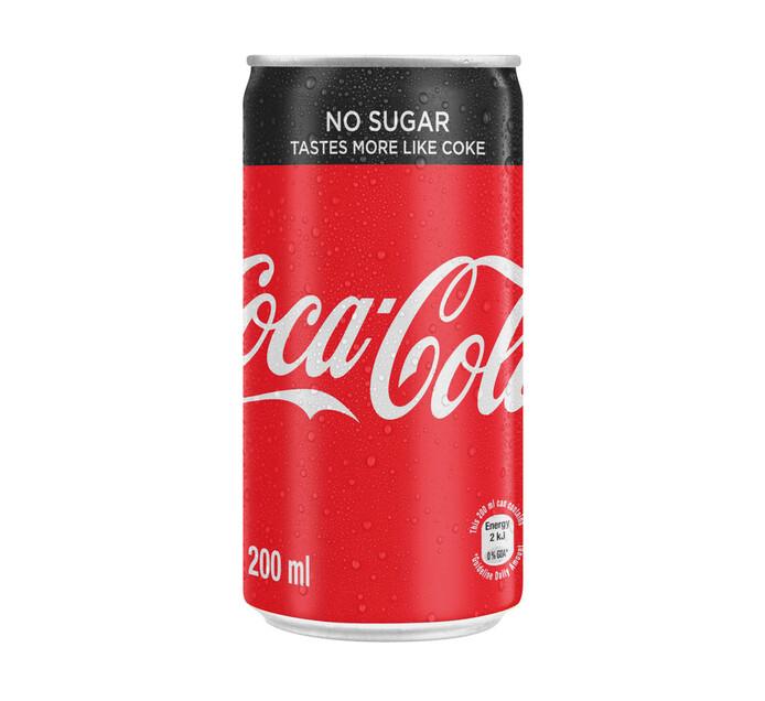 Coca Cola Zero Can (6 x 200ml)