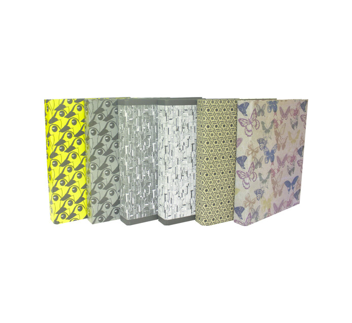 Files A4 Ring Binders Assorted 6-Pack