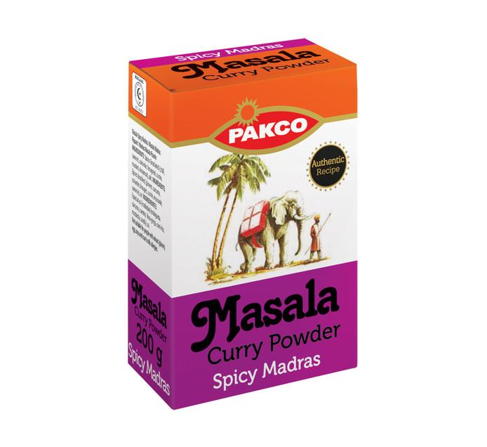 Pakco Curry Powder Spicy Madras (1 x 200g)