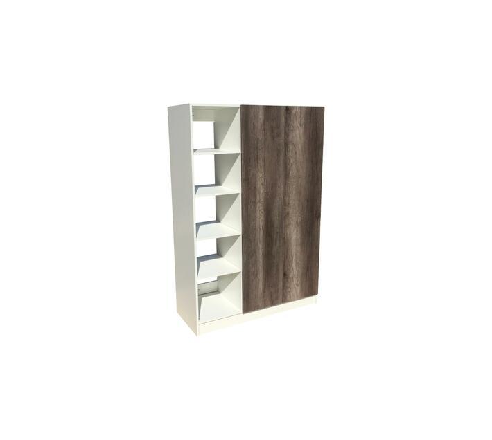 BIC1200 2Door Open Shelf Mel. Monument Oak