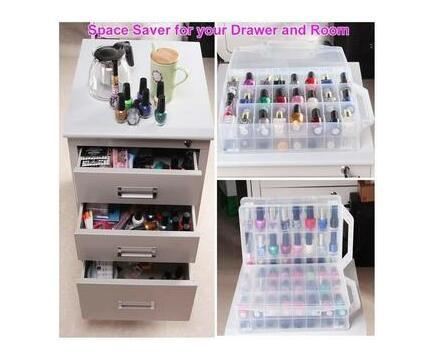 ABC Makeup Clear Nail Polish Organizer Holder for 48 Bottles