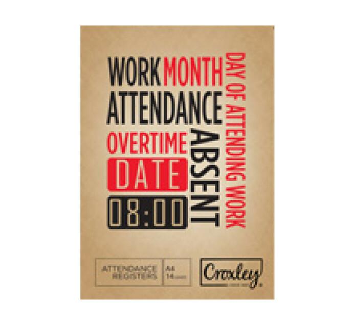 Croxley A5 Attendance Register 5 Pack