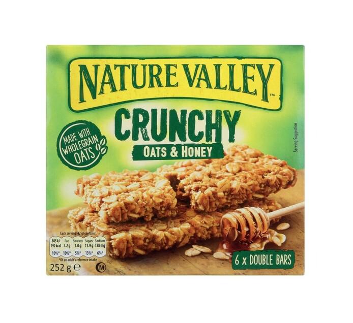 Nature Valley Granola Bars Oats & Honey (6 x 42g)