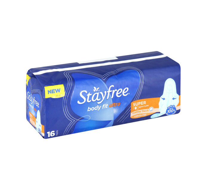 Stayfree Ultra Thin Body Fit Pads Super (1 x 16's)