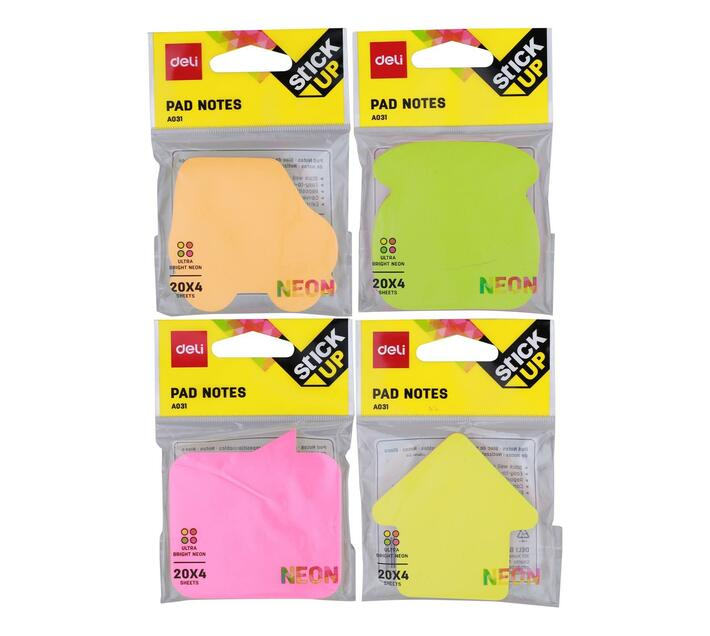Deli Stationery Pad Notes 76×76Mm 3``×3`` 100 Sheets Asst.