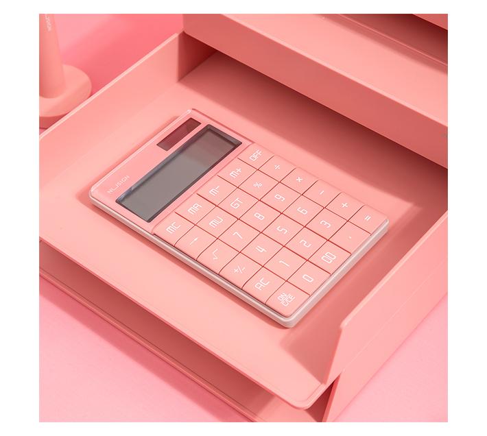 Nusign Desk Calculator Light Red
