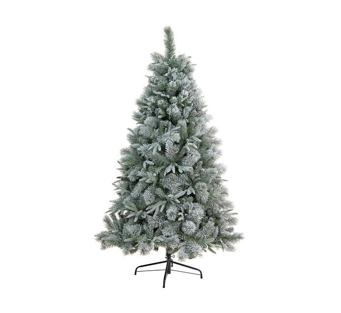 St Nicholas 180 cm Flocked Christmas Tree with PE Tips