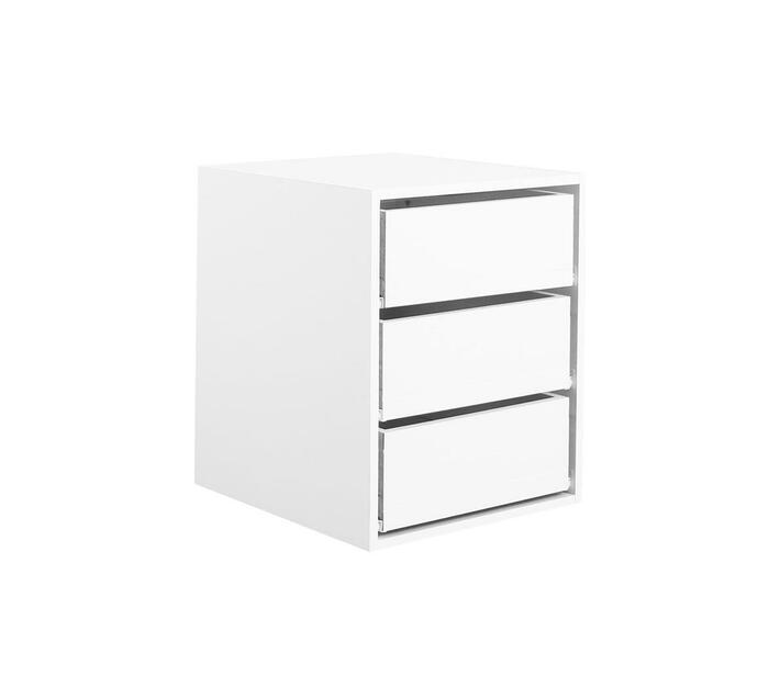 Space Saver 3 Drawer Melamine White