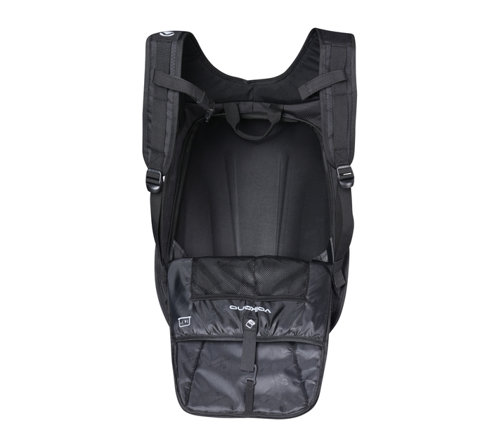 Volkano Ninja Series 14.1` Backpack in Black with Adjustable Chest Strap to reduce strain on your shoulders and Waist Strap and EVA Mold