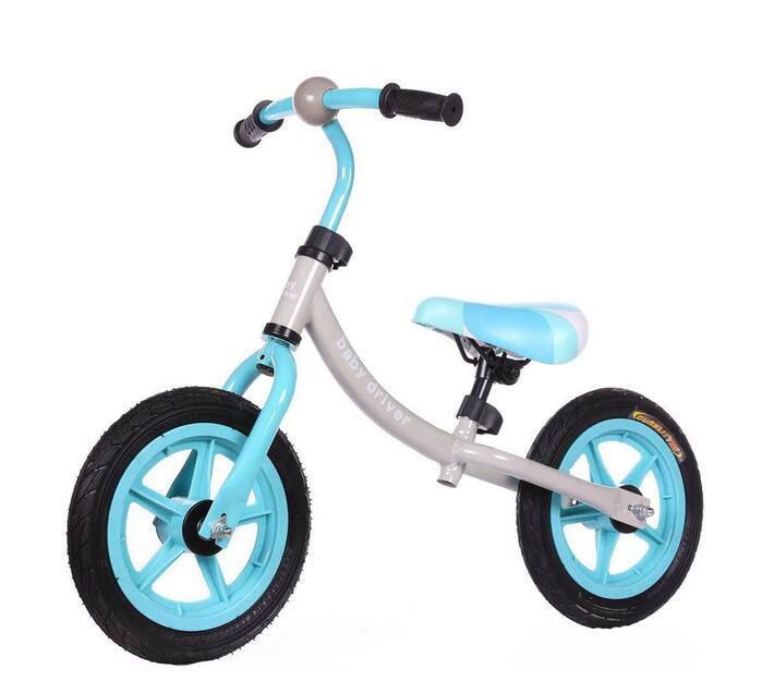 Little Bambino Balance Bike with Adjustable Seat- Blue and Grey