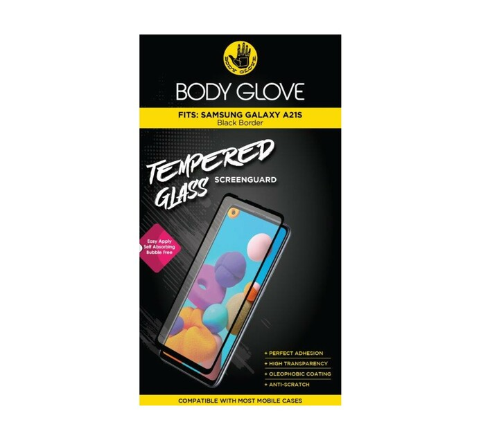 Body Glove Galaxy A21s Tempered Glass Black