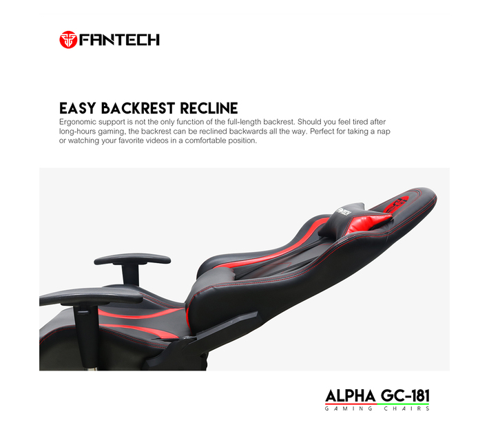 Fantech GC-181 Alpha Recline Able Gaming Chair - GREEN