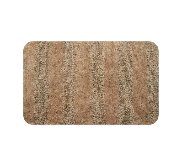 Home Living 85 x 55 cm Luxor Reversible Bath Mat Stone