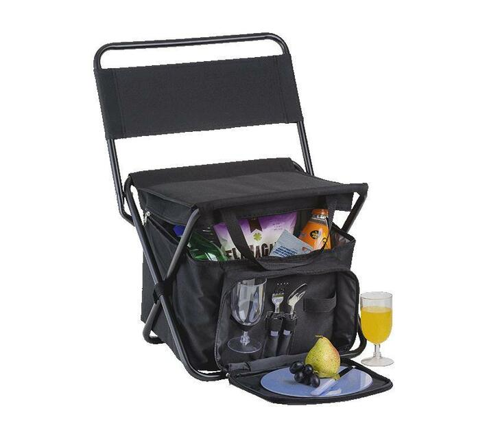 Zurial Corporate Picnic Chair Cooler with 2 Person Picnic Set