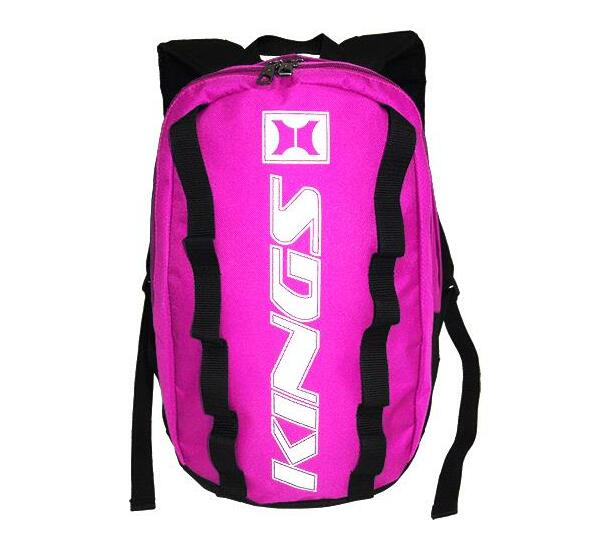 2657 Hot pink/Black/White Dome shaped Kings backpack.