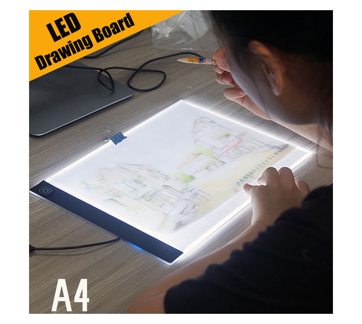 A4 12 Inch Artist Drawing Boards Dimming Art craft Tracing Light Box 2020 New Arrival -Pink