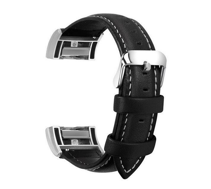 Zonabel Fitbit Charge 2 Leather Strap - Black (Small)