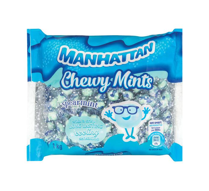 Manhattan Chewy Soft Mints Spearmint (1 x 1kg)