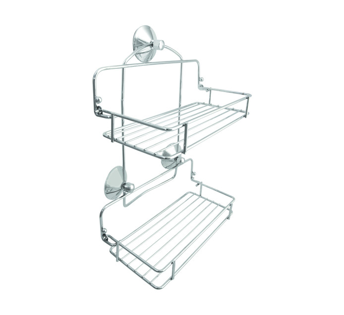 Wildberry Double Chrome Suction Shower Caddy
