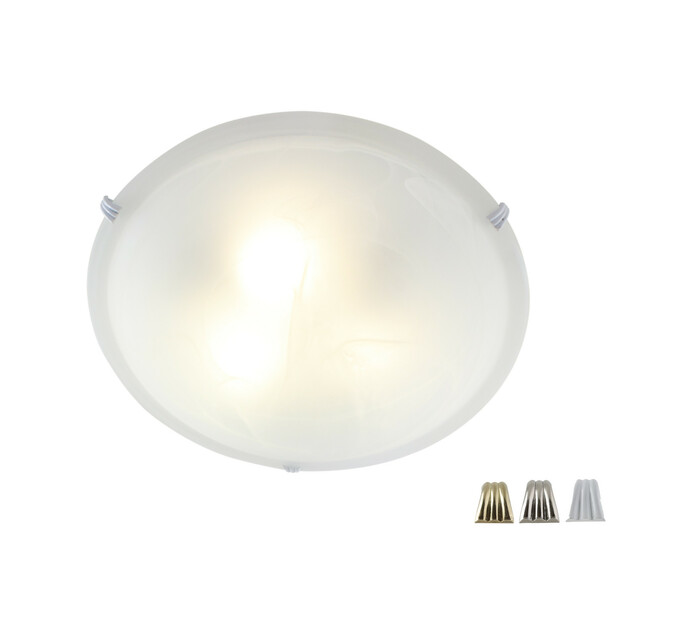 Eurolux 400 mm Alabaster Ceiling Fitting 3 Clips