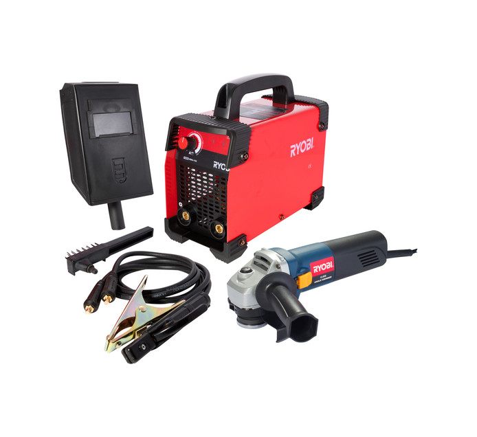 Ryobi 160 Amp Metal Arc Inverter Welder and 850 W Angle Grinder