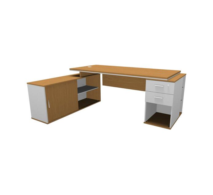 Elite Platinum L-combo Desk LHS NO & WT