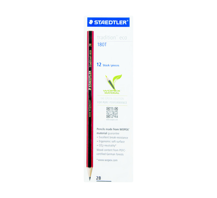 Staedtler 2B 2B Tradition Eco Pencil 12 Pack 2B