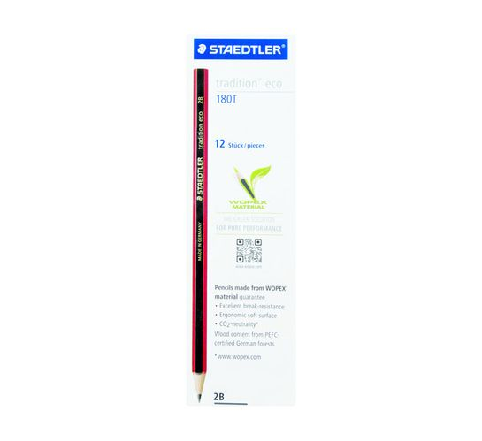 Staedtler Tradition Eco 2B Pencils 12-Pack