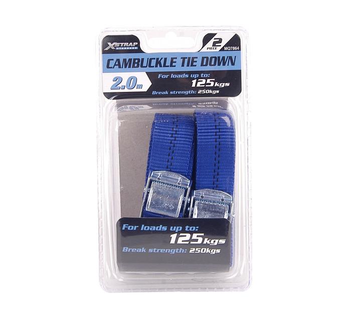 X-strap 2 Piece Quick Release Cambuckle Tie Down