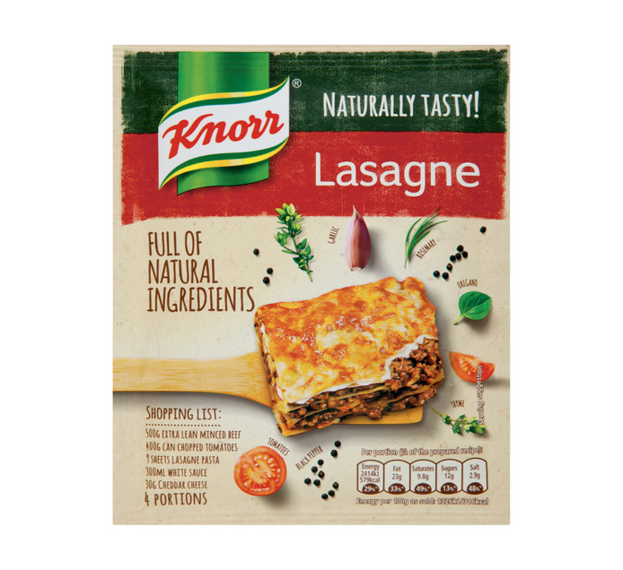 KNORR Dry Cook In Sauce Lasagne (1 x 60g)