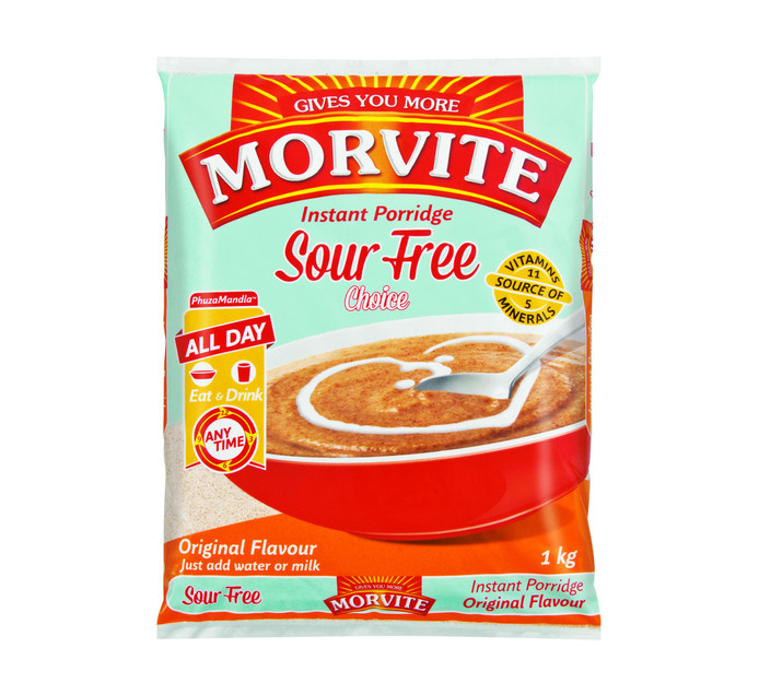 MORVITE Choice Instant Porridge Original (10 x 1kg)