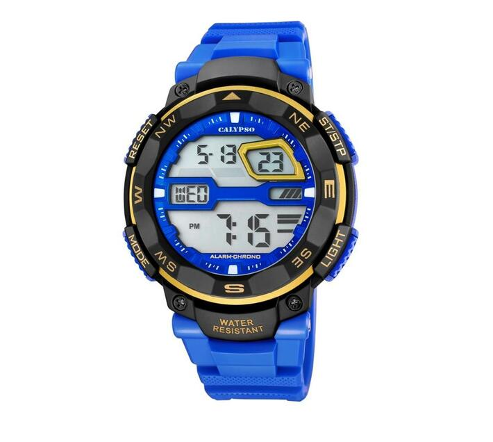 Calypso Digital Sports Mens Week Indicator Watch - Blue