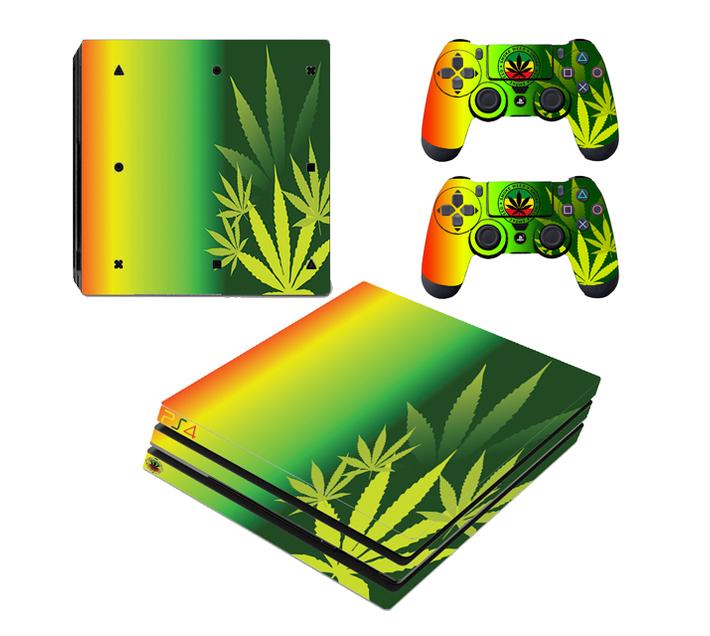 SKIN-NIT Decal Skin For PS4 Pro: Rasta Weed