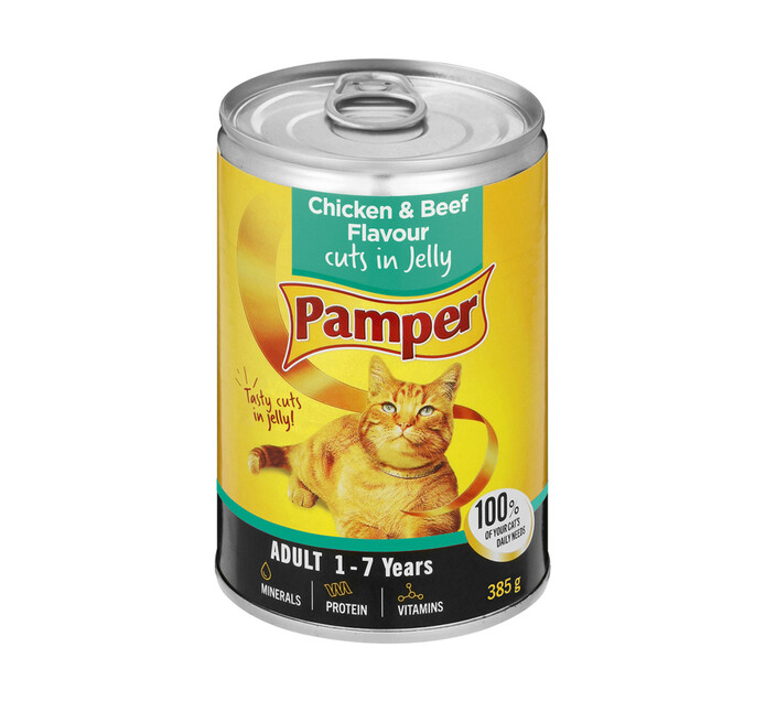 Pamper Moist Cat Food Chicken And Beef (1 x 385g)