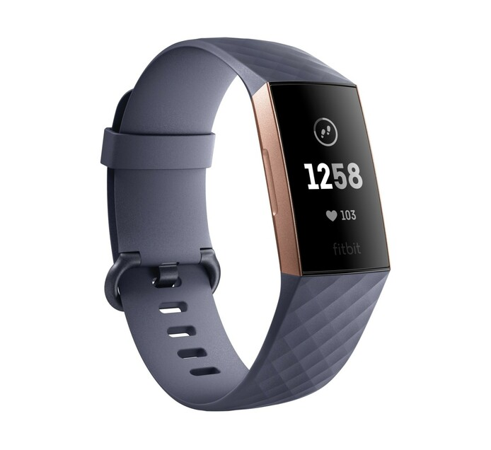 FITBIT CHARGE 3 - ROSE GOLD/ BLUE GREY