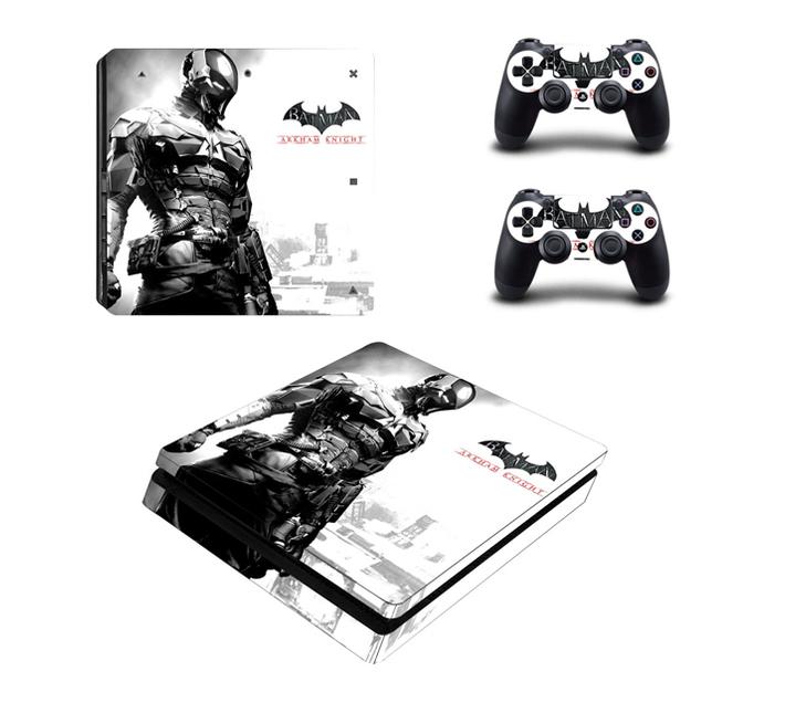 SKIN-NIT Decal Skin For PS4 Slim: Batman Arkham Knight White
