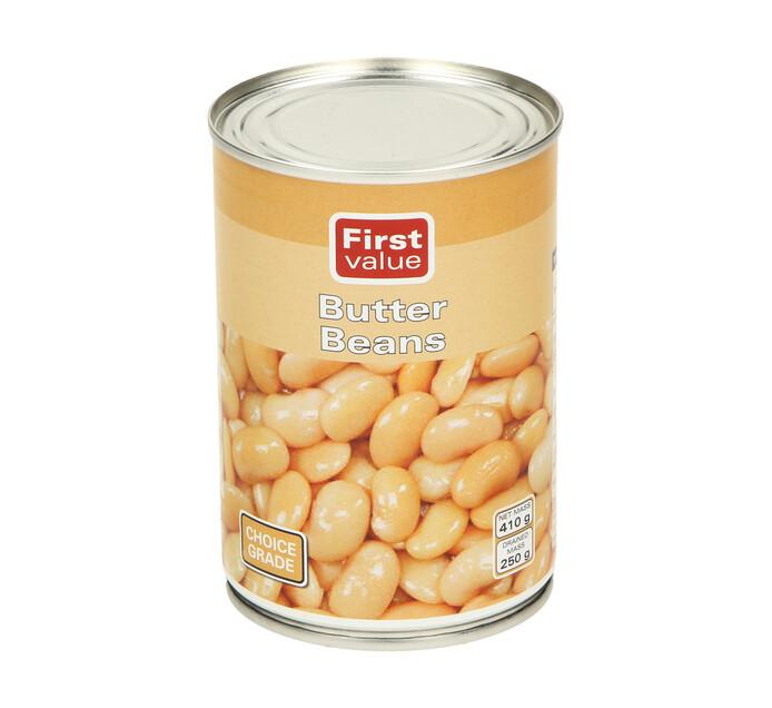 First Value Butter Beans (1  x 410g)