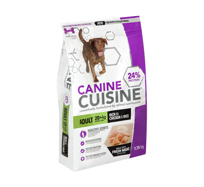 Canine Cuisine Dog Food Adult Meduim - Large (1 x 1.75kg)