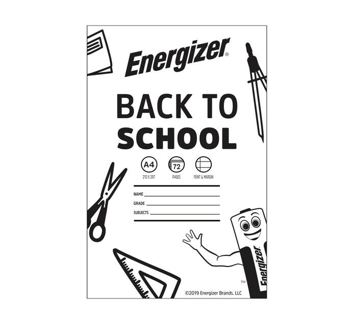 Energizer A4 Exercise Book Feint & Margin 72-Page